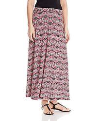 Kasper - Printed A Line Maxi Skirt - Lyst