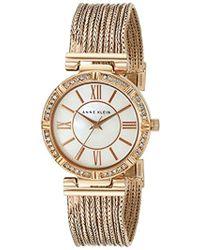 Anne Klein - Ak/2144mprg Swarovski Crystal Accented Rose Gold-tone Chain Bracelet Watch - Lyst