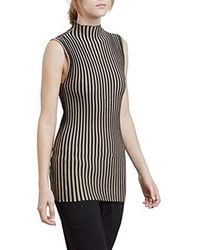 Kenneth Cole - Striped Mock Sweater - Lyst
