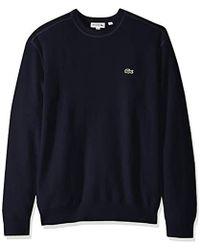 804c6cd6d4c6ab Lacoste - Long Sleeve Half Cardigan Rib Flatlock Detail Sweater - Lyst
