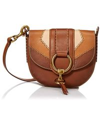 Frye - Ilana Color Block Saddle Crossbody Leather Bag - Lyst