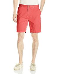 Nautica - Cotton Twill Flat Front Chino Deck Short - Lyst