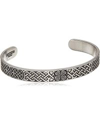 ALEX AND ANI - Four Leaf Clover Cuff Bracelet, Rafaelian Silver, Expandable - Lyst
