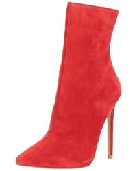 Steve Madden Wagner Ankle Bootie - Red