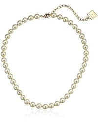 """Anne Klein - """"perfectly Pearl Pearl Collar Necklace, 16"""" + 3"""" - Lyst"""