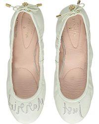 fd86164a6fbb Lyst - Kate Spade Gwen  just Married  Ballet Flats