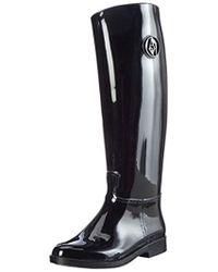 Armani Jeans - Capsule Tall Shaft Rain Boot - Lyst