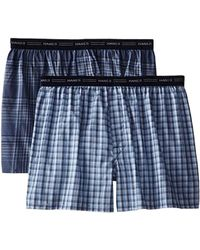 Hanes - 2-pack Exposed Waistband Woven Boxers - Lyst