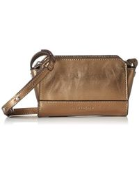 Liebeskind Berlin - Hollywood Metallic Leather Structured Mini Crossbody - Lyst