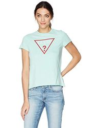 Guess - Short Sleeve Triangle Logo Tee - Lyst