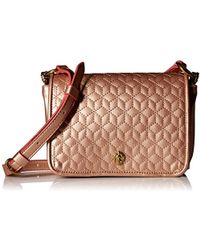Anne Klein - Lion Ring Small Quilted Flap Crossbody Pearlized - Lyst