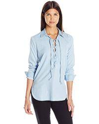 Joe's Jeans - Long Makeyla Lace Up Shirt - Lyst