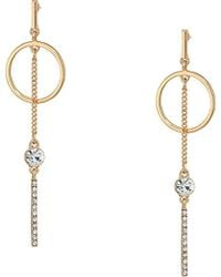 Guess - S Mis-matched Linear Earrings With Rings - Lyst