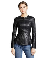 Theory - Leather Movement Vip-up Jacket - Lyst