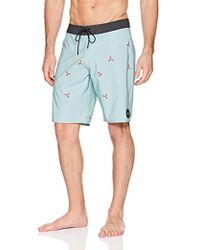 8e63021089 RVCA Middle Mens Swim Trunks in Blue for Men - Lyst