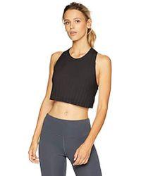 cdddd57cebb7c Lyst - Alo Yoga Illuminate Lace-print Sports Bra in Black