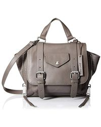 Linea Pelle - Rowan Mini Messenger, Grey - Lyst