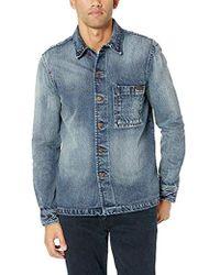 070654671a Nudie Jeans Billy Worn Clean Denim Jacket Blue in Blue for Men - Lyst