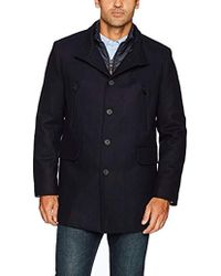 Cole Haan - Pressed Melton 3-in-1 Topper Jacket With Removable Bib - Lyst