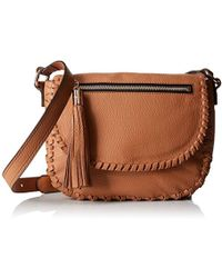 MILLY - Astor Whipstich Saddle Cross-body Bag - Lyst