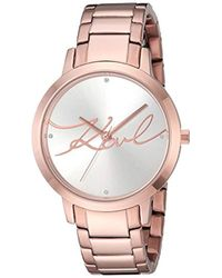 Karl Lagerfeld - Camille Quartz Stainless Steel Casual Watch, Color: Rose Gold-tone (model: Kl2237) - Lyst