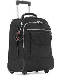 Kipling - Womens Sanaa Black Rolling Backpack - Lyst