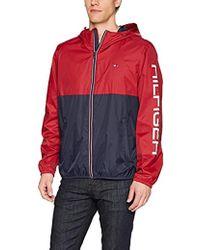 Tommy Hilfiger - Colorblocked Logo Rain Slicker Jacket - Lyst