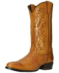 Stetson - Burnished Ficcini Round-toe Riding Boot - Lyst
