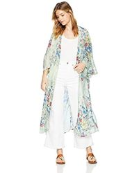 Steve Madden - Long Floral Duster Kimono Cardigans Casual Cover Up Coat Outwear Top - Lyst