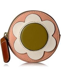 Orla Kiely - Giant Flower Leather Round Hanging Purse - Lyst