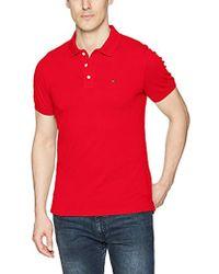 169cd75b Tommy Hilfiger - Polo Shirt Slim Fit Original Flag With Short Sleeves - Lyst