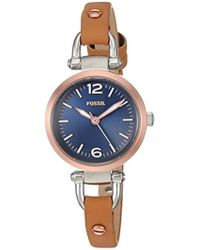 Fossil - Georgia Three-hand Leather Watch - Lyst