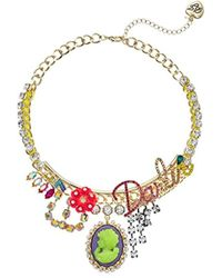 Betsey Johnson - S Darlin Frontal Necklace - Lyst