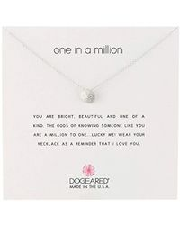 """Dogeared - Reminders Sand Dollar Charm Necklace, 18"""" - Lyst"""