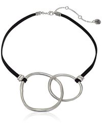"The Sak - Double Link Collar Silver Necklace, 16"" - Lyst"