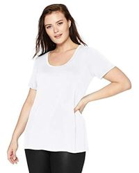 Daily Ritual - Plus Size Jersey Short-sleeve Scoop Neck Shirt - Lyst