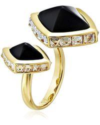 Rachel Zoe - Prestley Pyramid Duo Ring, Size 7 - Lyst