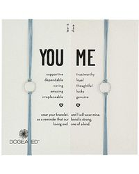 Dogeared - Sparkle Ring On Pebble Cord With Adjustable Bead Closure Sterling Silver Bracelet - Lyst