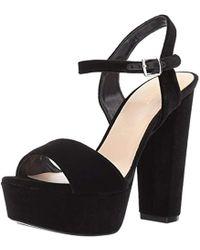 6b8f1f9f880 Nine West - Carnation Fabric Heeled Sandal - Lyst
