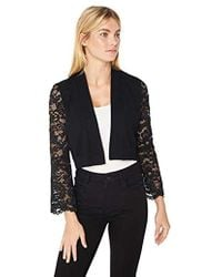 Calvin Klein - Open Knit Shrug With Lace Sleeves - Lyst