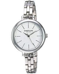 Kenneth Cole - Quartz Stainless Steel And Leather Casual Watch - Lyst