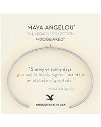 "Dogeared - Maya Angelou 2.0""attitude Of Gratitude Thin Engraved Cuff Bracelet - Lyst"