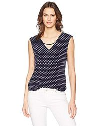 Calvin Klein - Sleeveless Top With Curved Bar - Lyst