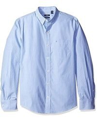 Izod - Striped Essential Woven Shirt, American Dream, X-small Slim - Lyst
