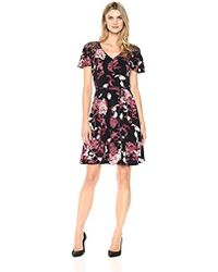 Ivanka Trump - Floral And Lace Soft Dress - Lyst