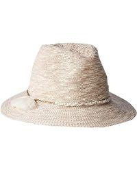 Vince Camuto - Cotton Slub Yarn Panama Hat - Lyst 285333b30e07