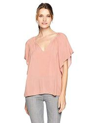 Velvet By Graham & Spencer - Tina Rayon Challis Top - Lyst