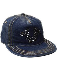 dbc053b1dfd Nordstrom Rack · True Religion - Denim Stud Horseshoe Cap - Lyst