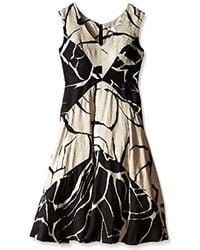 Tracy Reese - Floral Jacquard Fit And Flare Dress - Lyst