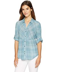 Nine West - Hayden Roll Sleeve Dolman Shirt - Lyst